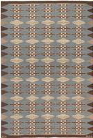 Mid Century Klockaregardens Hemslojd Scandinavian / Swedish Carpet