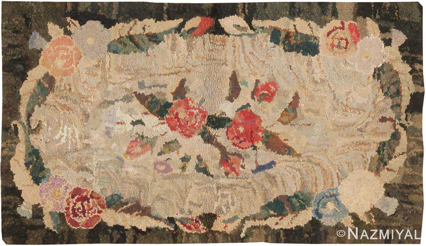 Antique Hooked American Rug 2555 Nazmiyal