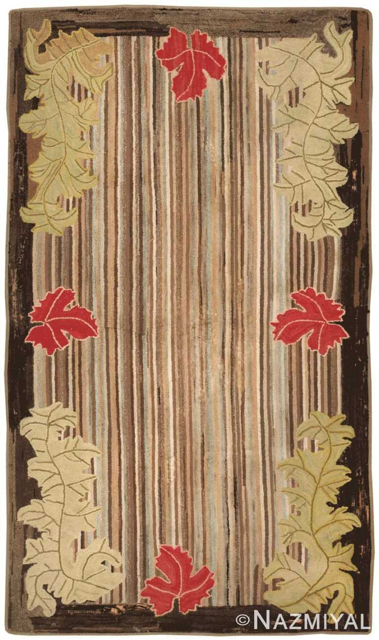 Antique Hooked American Rug 2696 Nazmiyal