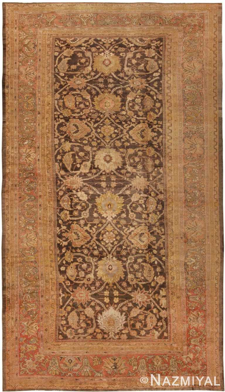 Earth Tone Oversized Antique Persian Sultanabad Rug 44653 Nazmiyal