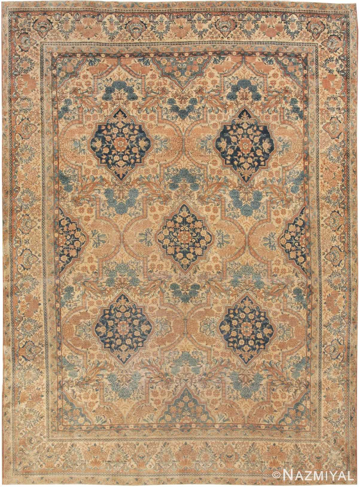 Antique Kerman Persian Rug 44784 Nazmiyal
