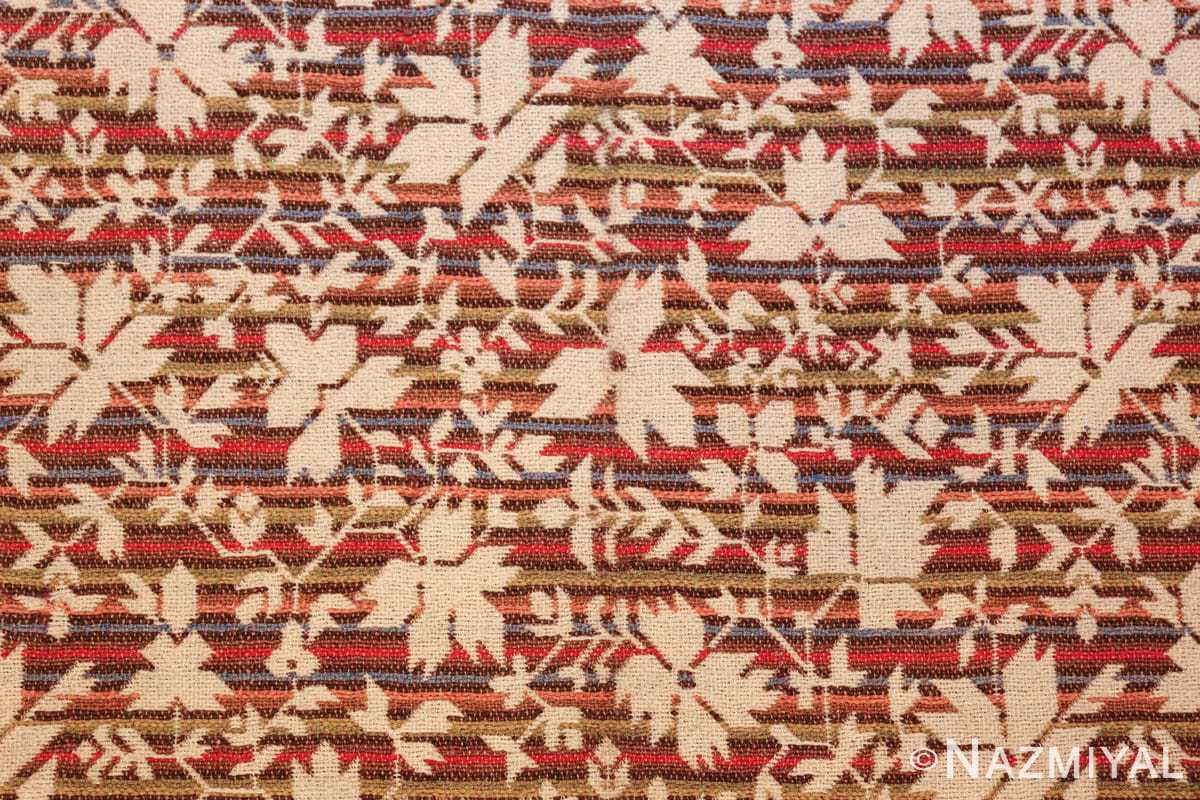 antique ingrain american rug 2586 leaves Nazmiyal