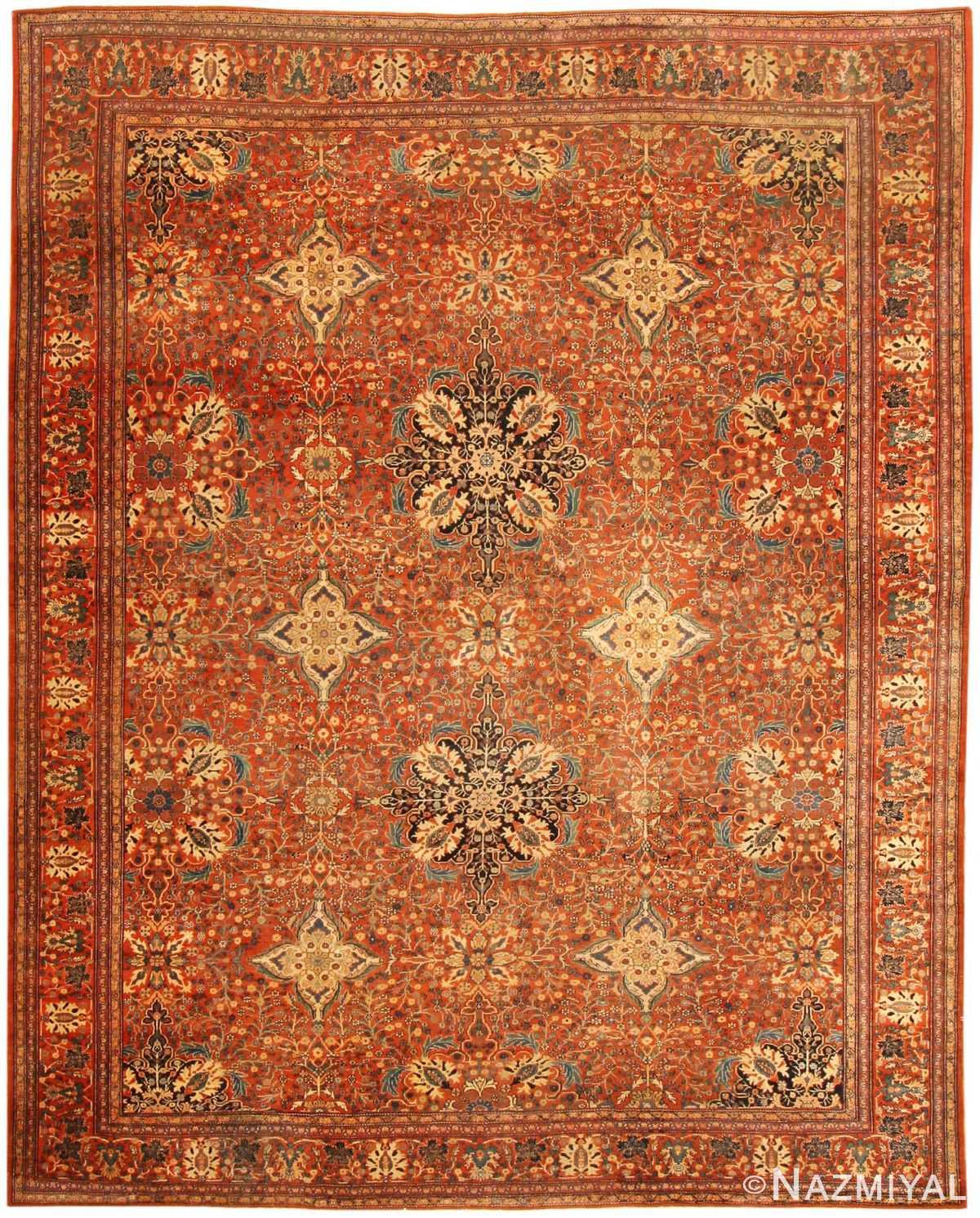 Vintage Persian Rugs: Antique Sarouk Farahan Rug 43353 By Nazmiyal