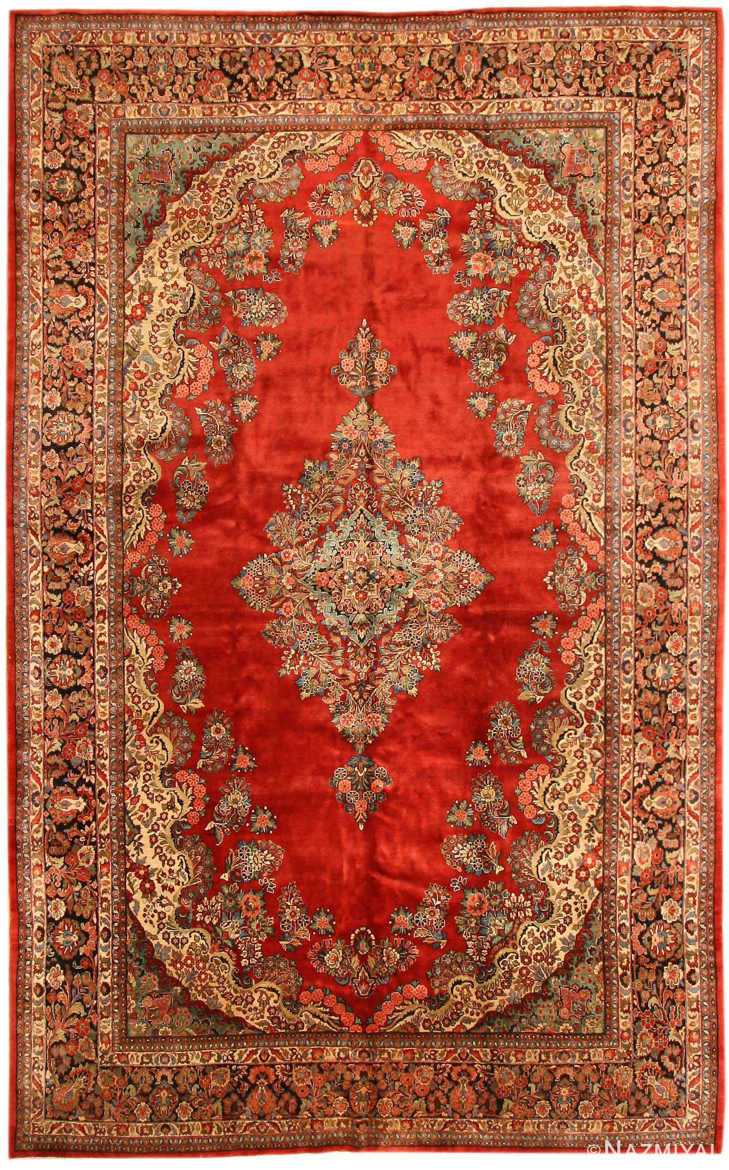 Antique Sarouk Persian Rug 43596 Hand Made In Persia