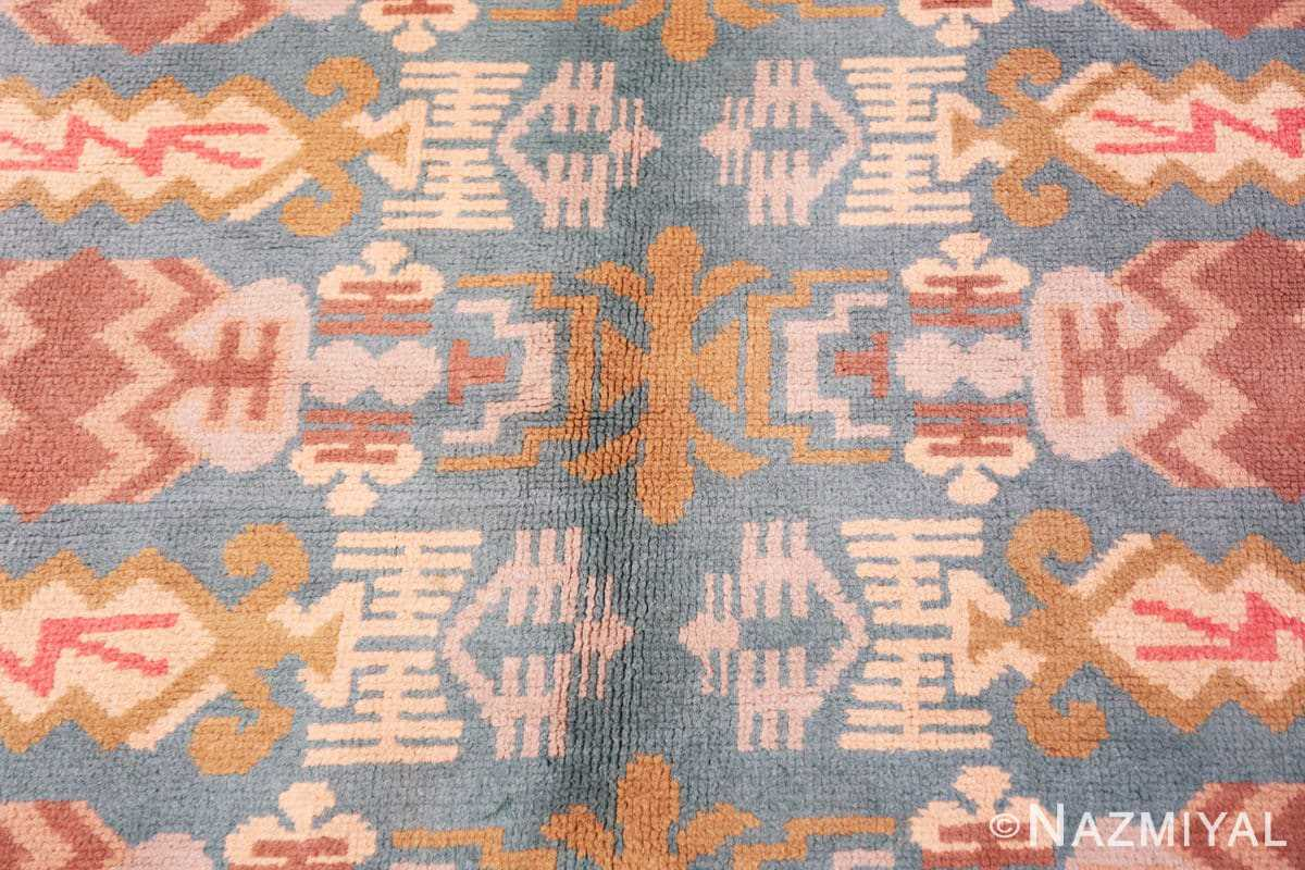 Background Vintage room size mid Century Scandinavian Swedish pile rug 44610 by Nazmiyal