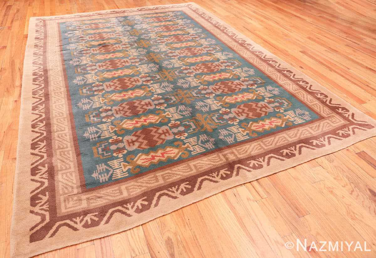 Full Vintage room size mid Century Scandinavian Swedish pile rug 44610 by Nazmiyal
