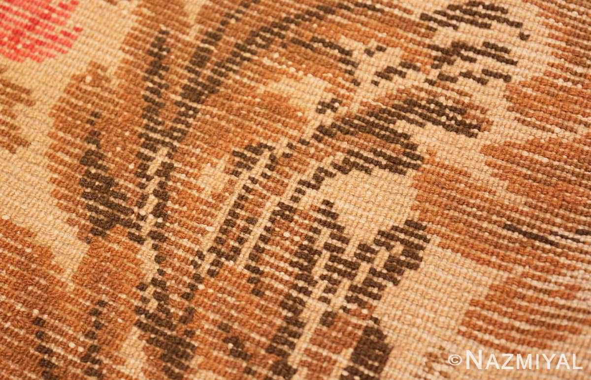 Weave detail from the Antique English rug 2892 by Nazmiyal