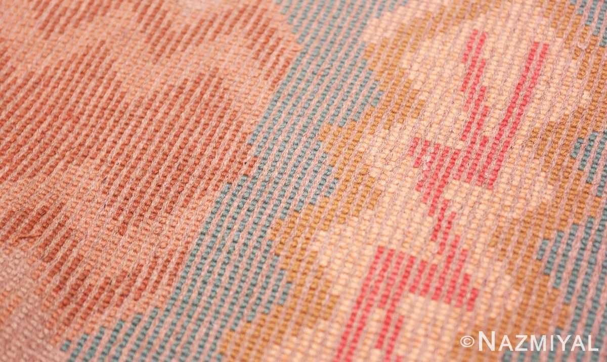 Weave detail Vintage room size mid Century Scandinavian Swedish pile rug 44610 by Nazmiyal