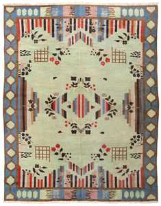 Art Deco Indian Rug 44915 Detail/Large View