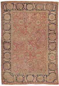 Antique 18th Century Mughal Indian Rug 8000 Nazmiyal