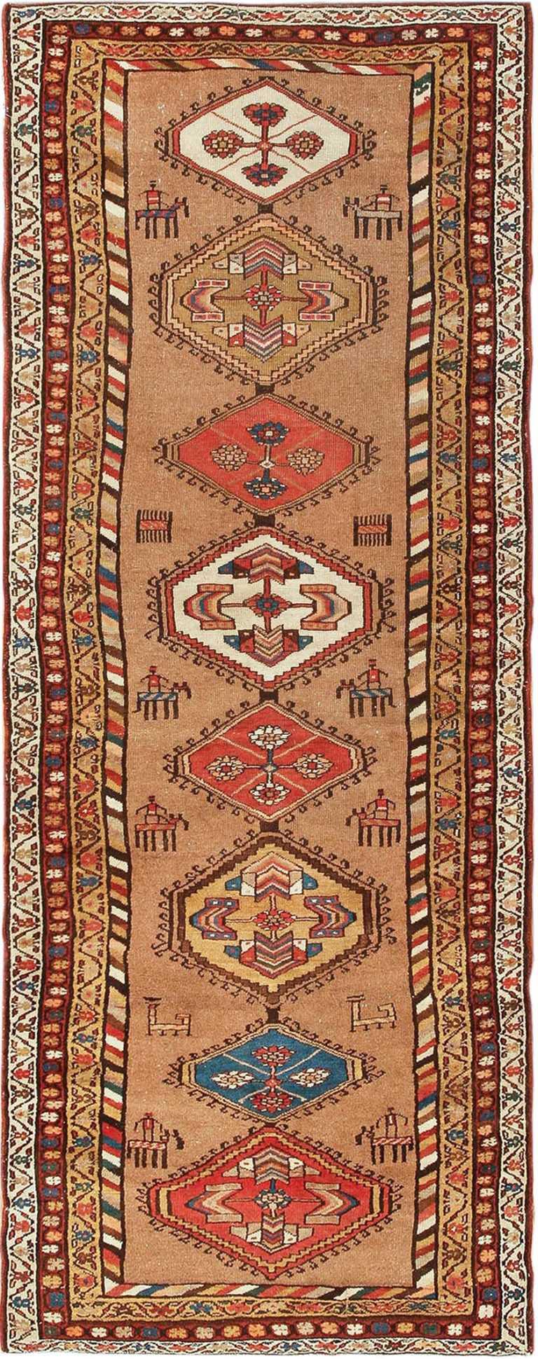 Antique Persian Bakshaish Runner Rug 41944 Nazmiyal