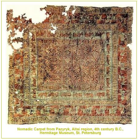 Nomadic Pazyrzk Carpet from Hermitage Museum by nazmiyal