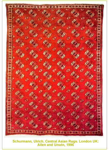 Antique Tribal Central Aisian Rug by Nazmiyal