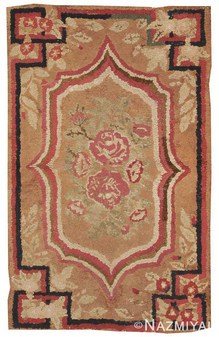 Antique Hooked American Rug 2556