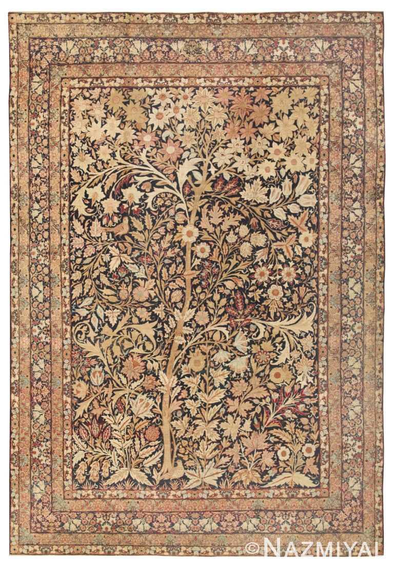 Antique Kerman Persian Rug 41805 Nazmiyal Antique Rugs
