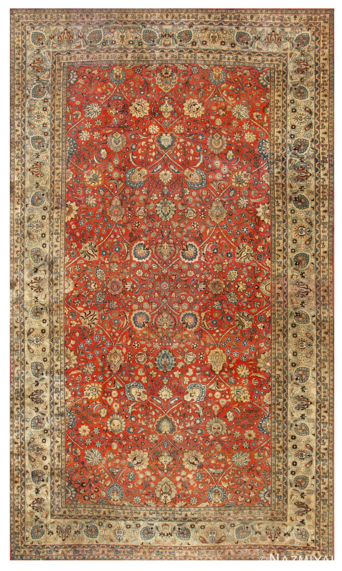 Antique Tabriz Persian Carpets 44813 Nazmiyal