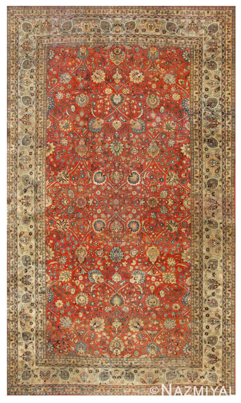 Antique Tabriz Persian Carpets 44813 Nazmiyal