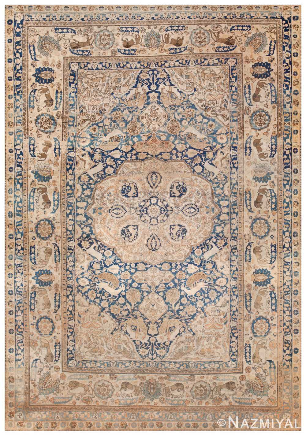 Antique Mohtashem Kashan Persian Rug 44891 Detail/Large View