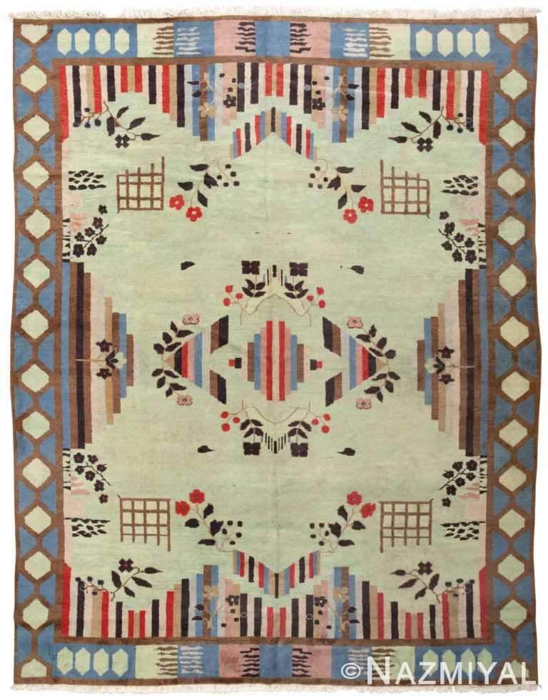 Vintage Art Deco Indian Rug 44915 Nazmiyal Antique Rugs