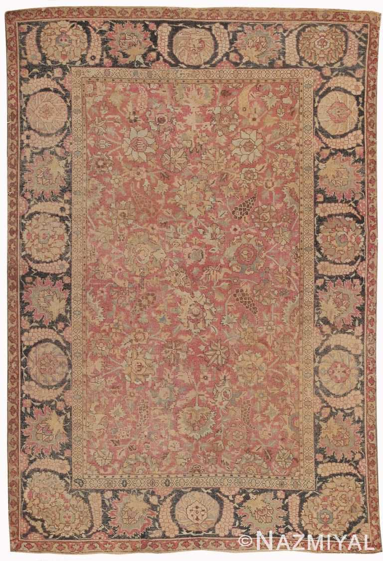 Antique 18th Century Mughal Indian Rug 8000 Nazmiyal