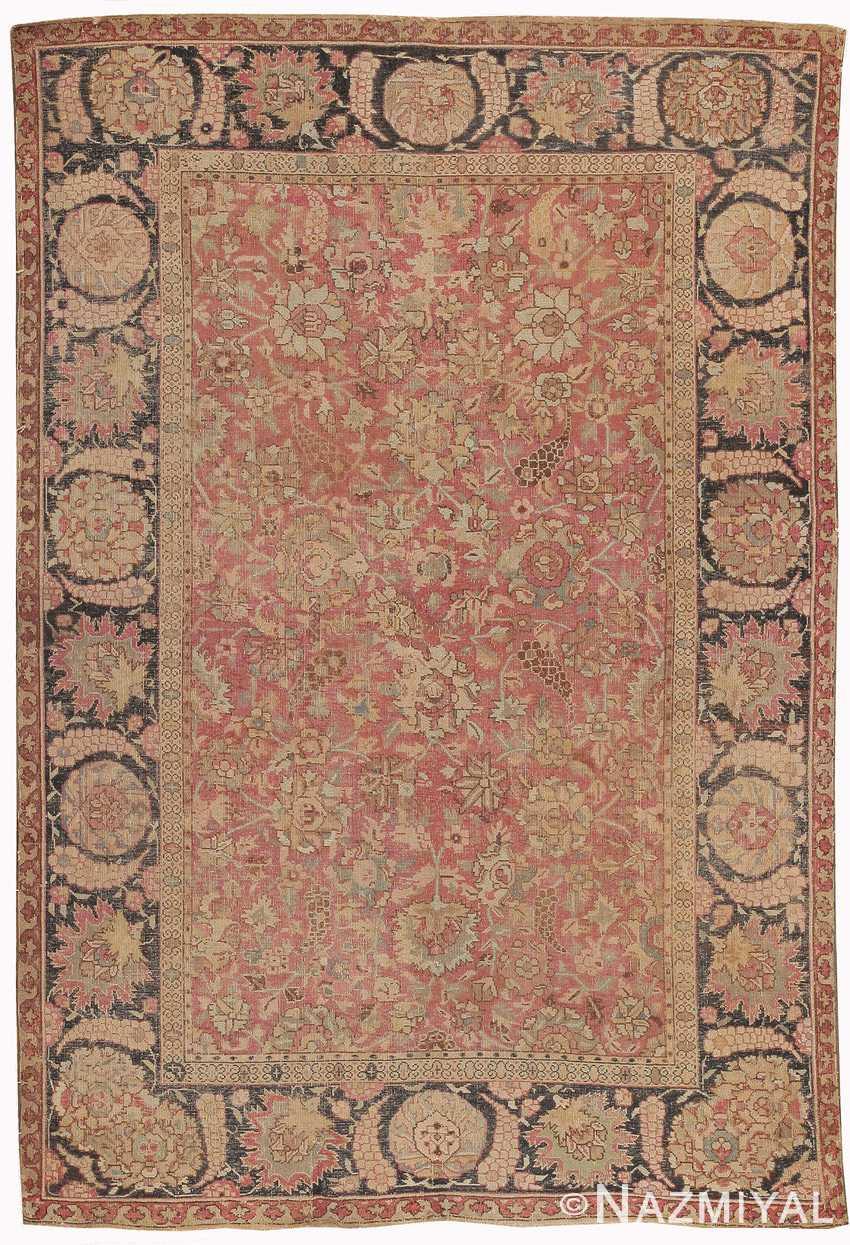 Antique 18th Century Indian Mughal Carpet 8000 By Nazmiyal