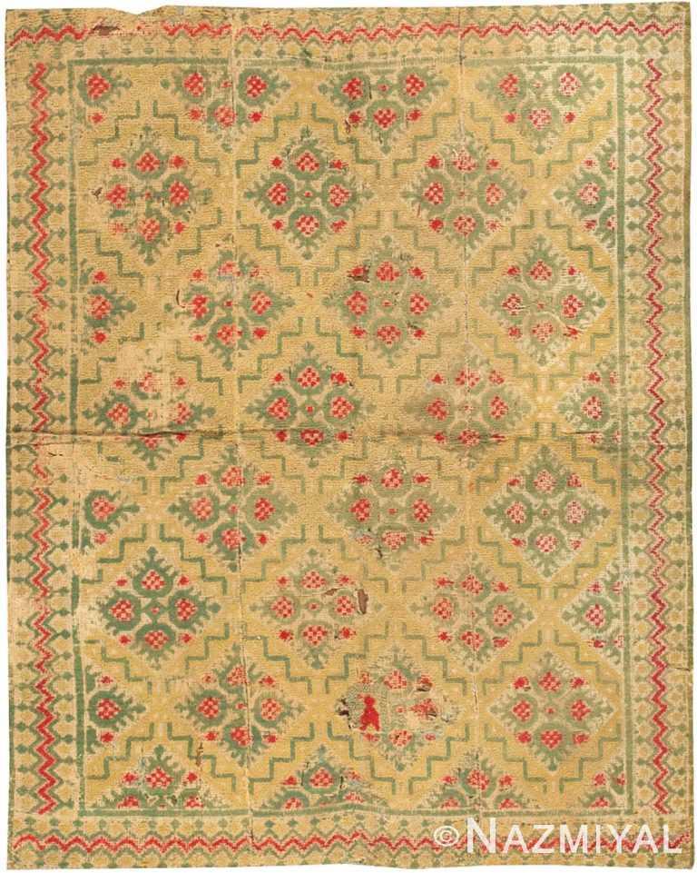 Antique Alpujarra Rug #2605 by Nazmiyal Antique Rugs