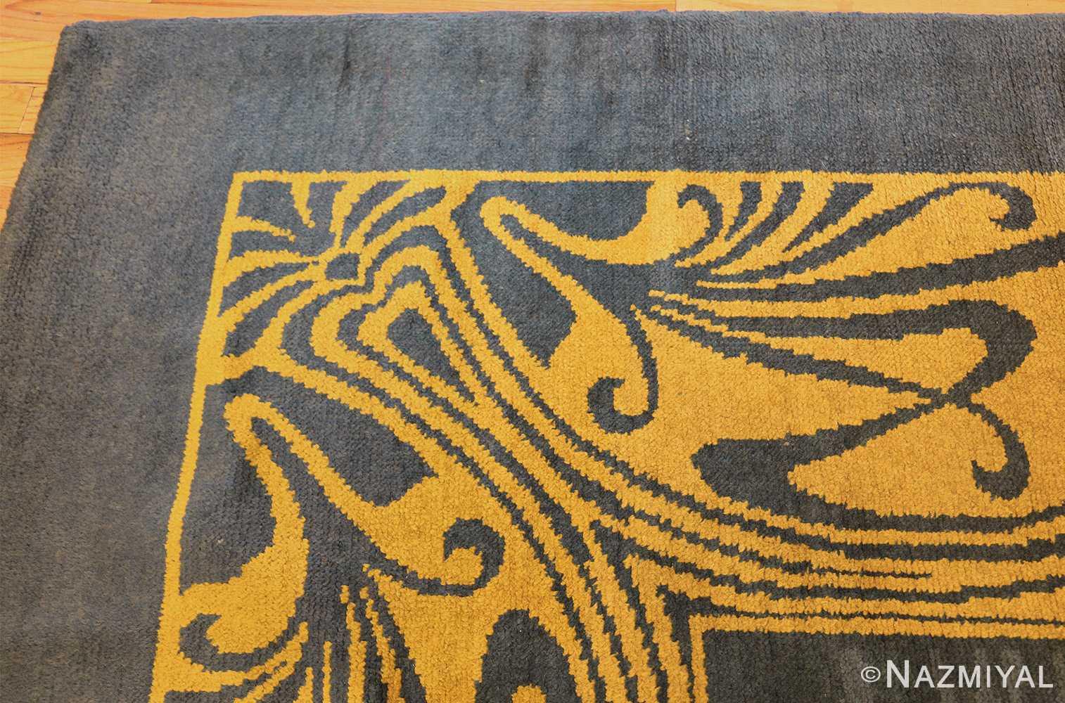 antique art nouveau french rug 43139 corner Nazmiyal