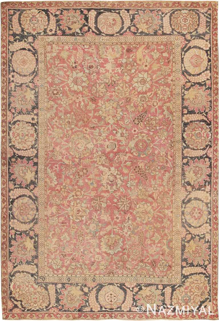 Antique Indian 17th Century Mughal Rug #8000 by Nazmiyal Antique Rugs