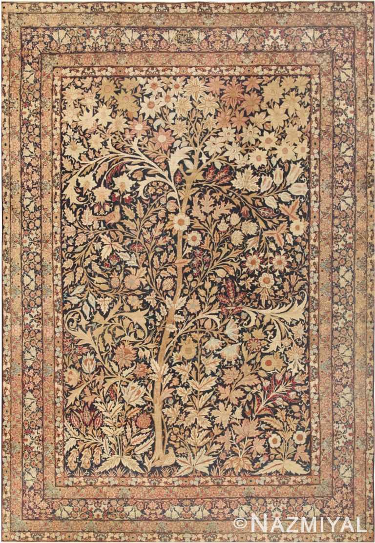 Antique Kerman Tree Of Life Design Persian Rug #41805 Nazmiyal Antique Rugs