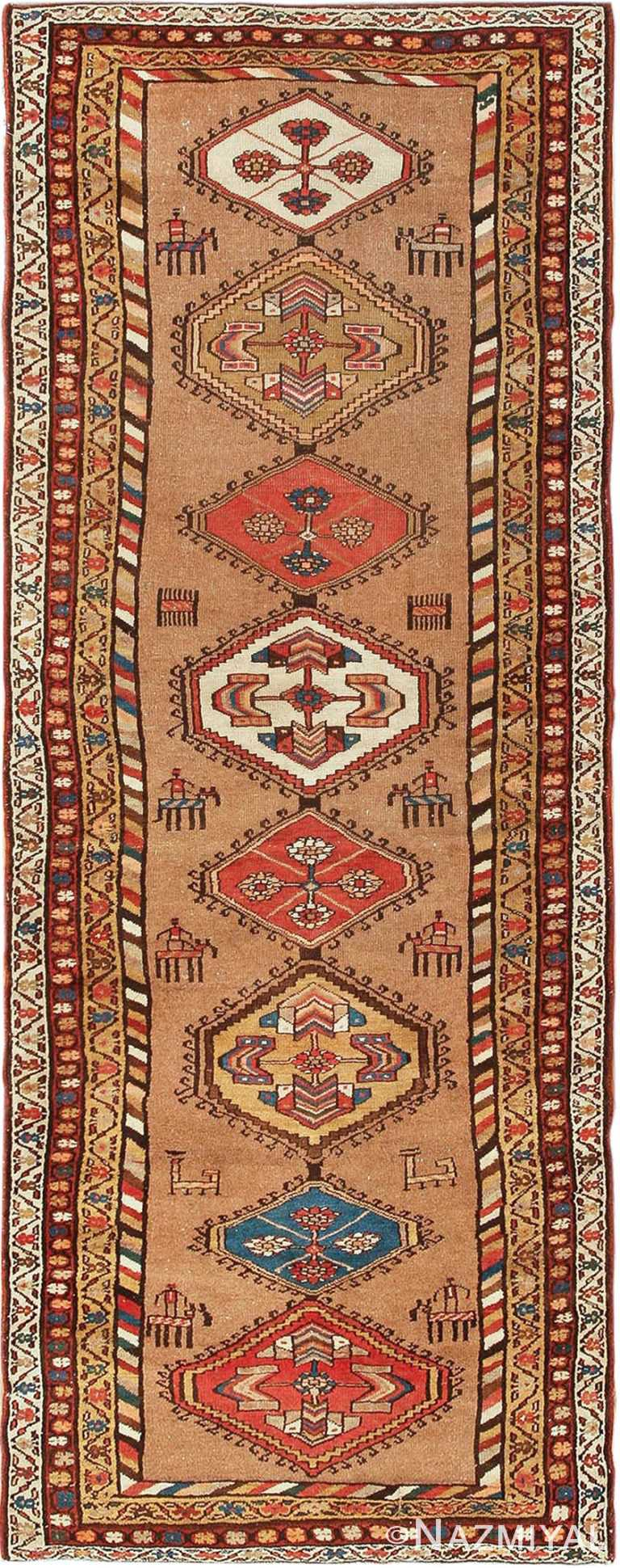 Antique Persian Bakshaish Runner Rug 41944 Nazmiyal