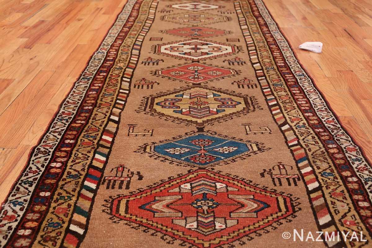 Antique Persian Bakshaish Runner Rug 41944 Field Design Nazmiyal