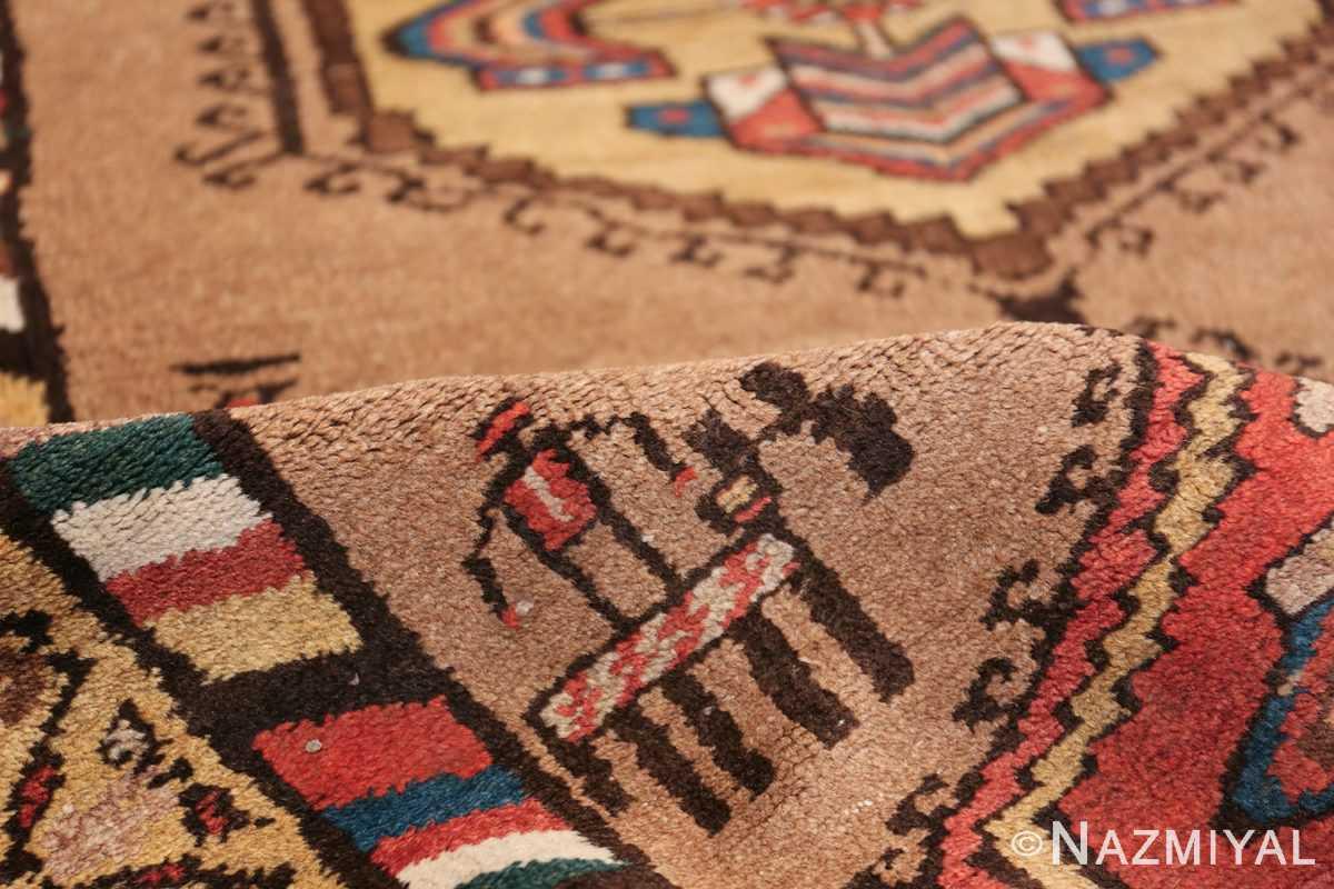 Antique Persian Bakshaish Runner Rug 41944 Geometric Pile Nazmiyal