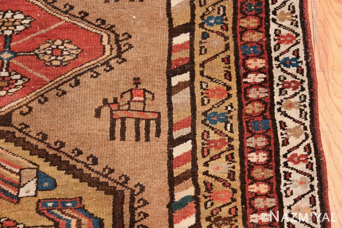 Antique Persian Bakshaish Runner Rug 41944 Riding Man Nazmiyal