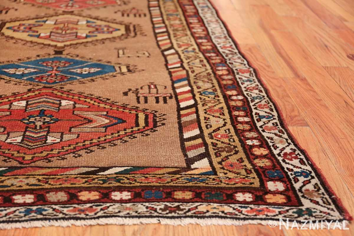 Antique Persian Bakshaish Runner Rug 41944 Side Corner Nazmiyal