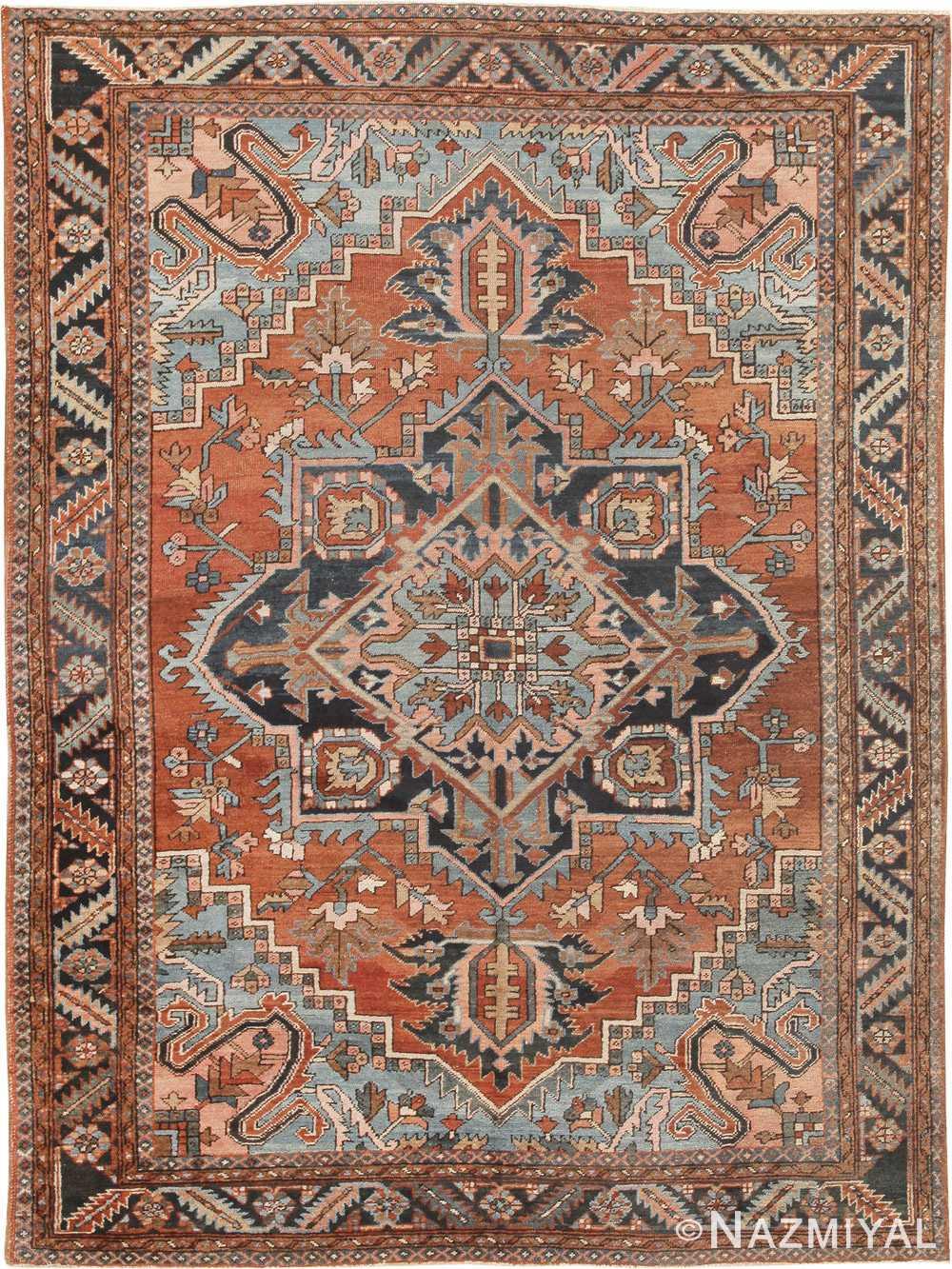 antique persian heriz serapi rug 44802 Nazmiyal