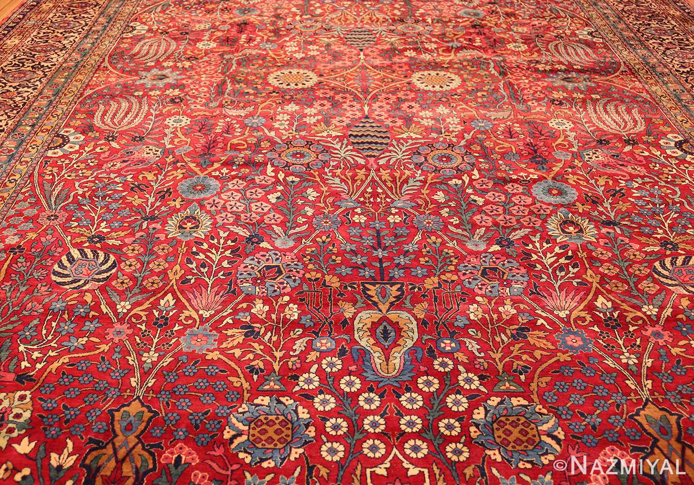 antique persian kerman rug 44449 field Nazmiyal