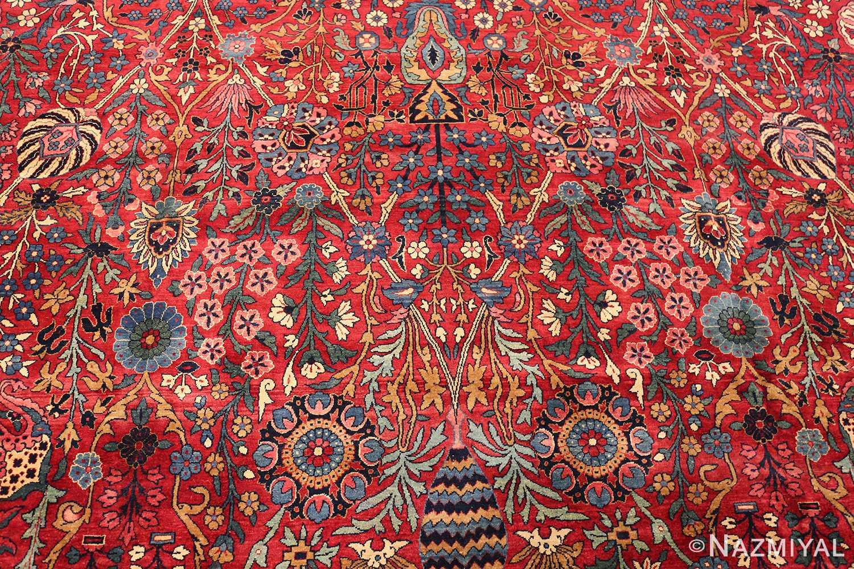 antique persian kerman rug 44449 scrolls Nazmiyal