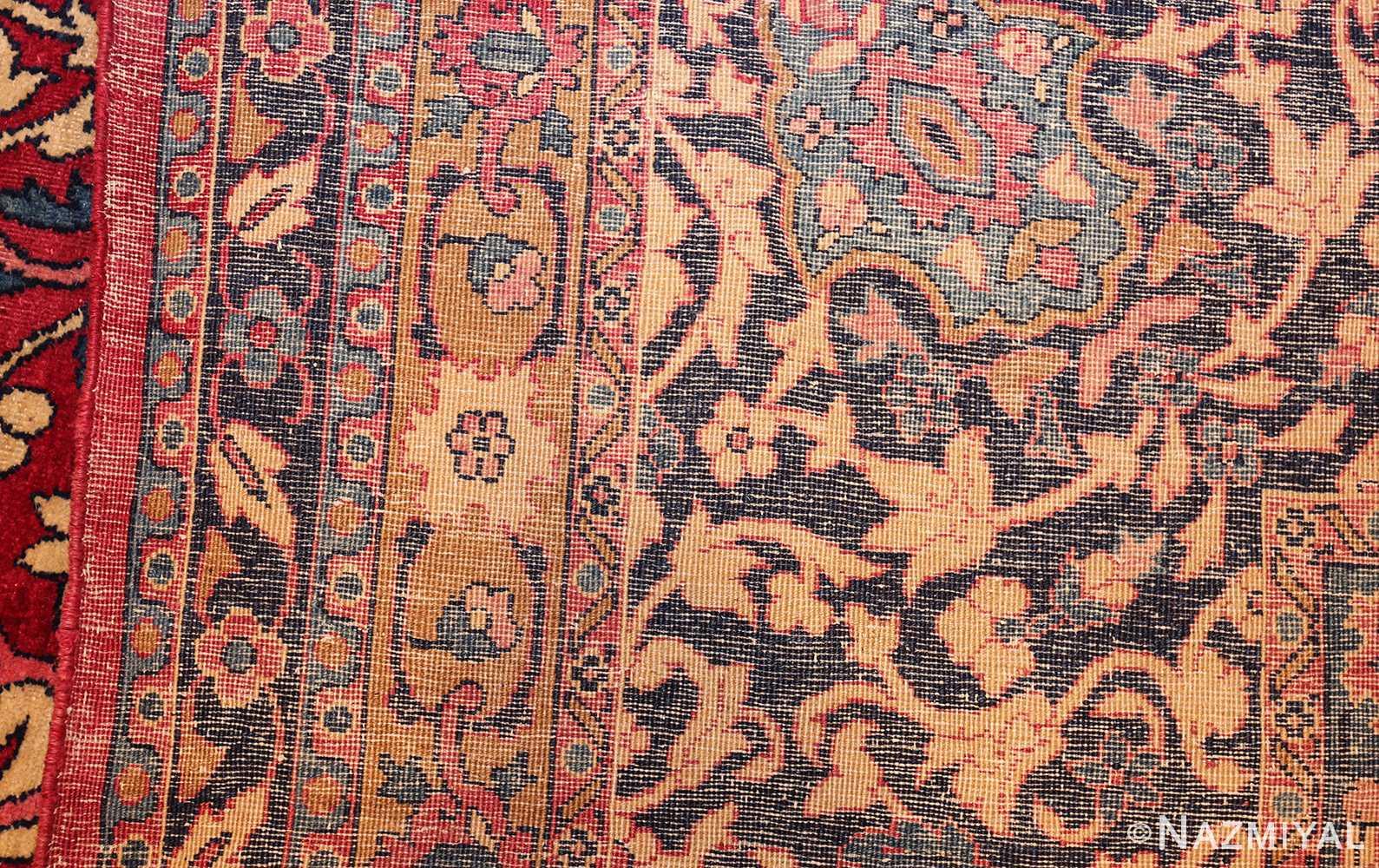 antique persian kerman rug 44449 weave Nazmiyal