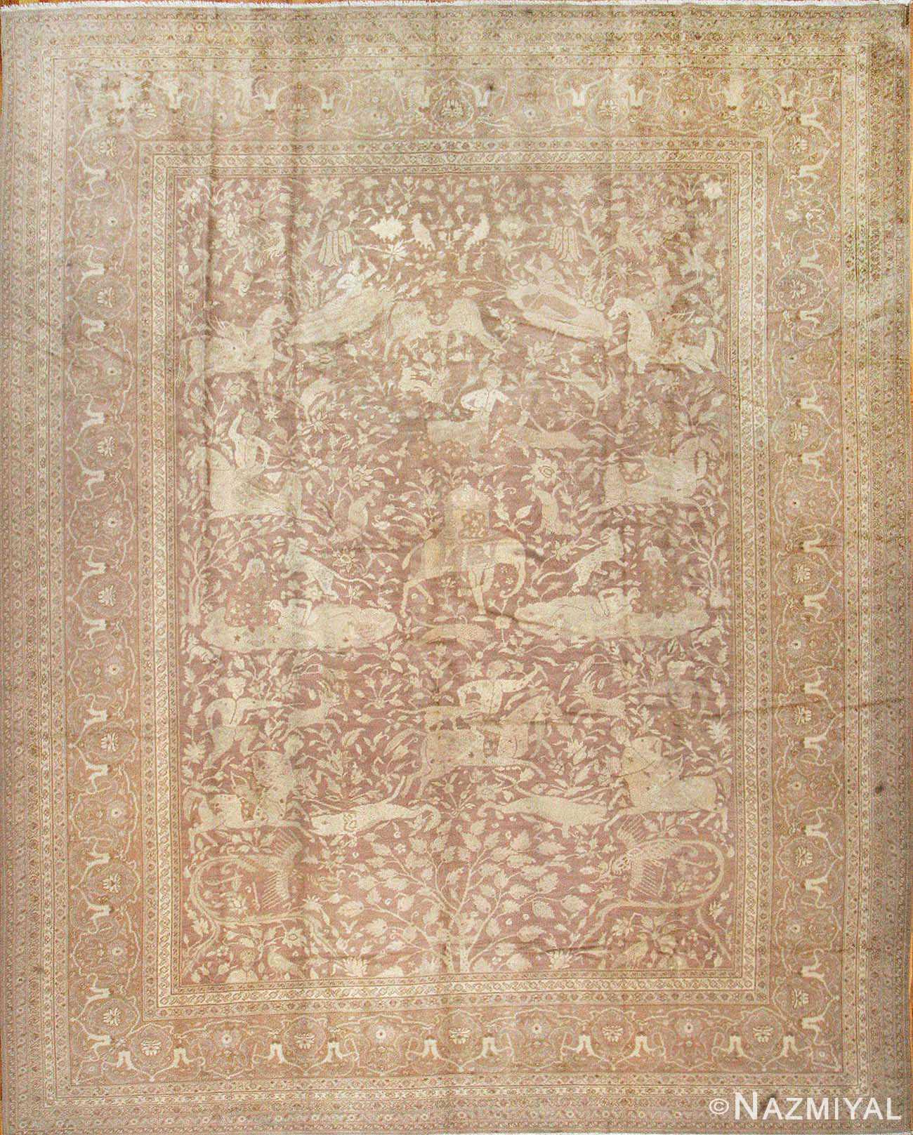 Antique Indian Oriental Rug 42296 Nazmiyal