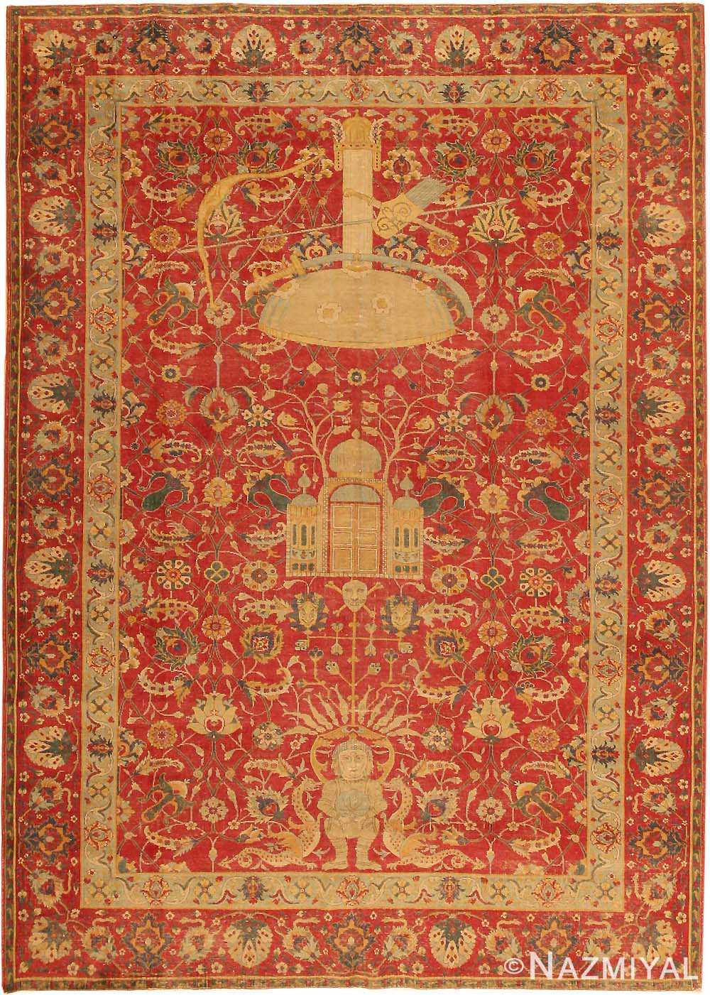 Antique Turkish Tuduc Oriental Rug #786 Nazmiyal