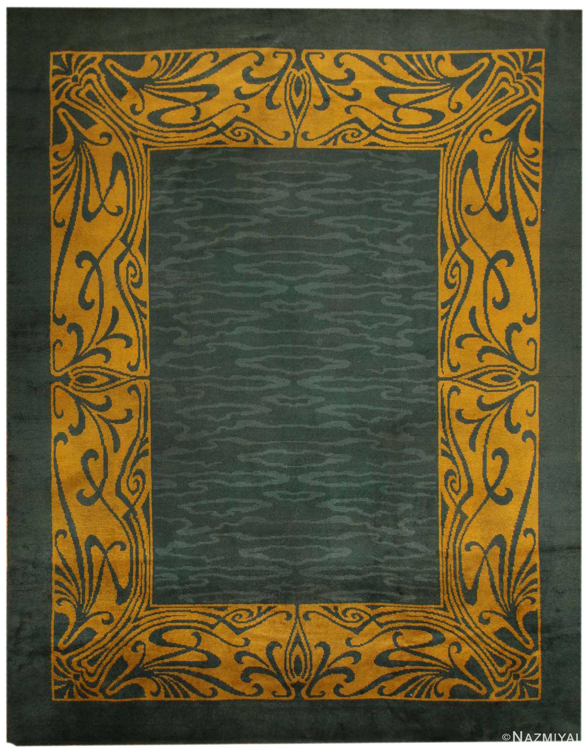 Preferred Antique Art Nouveau Irish Donegal Rug 43139 by Nazmiyal BE62