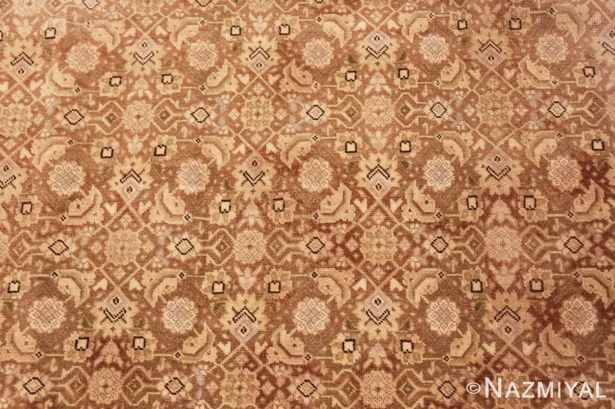 Backgroung Shabby chic Antique Persian Tabriz rug 44600 by Nazmiyal