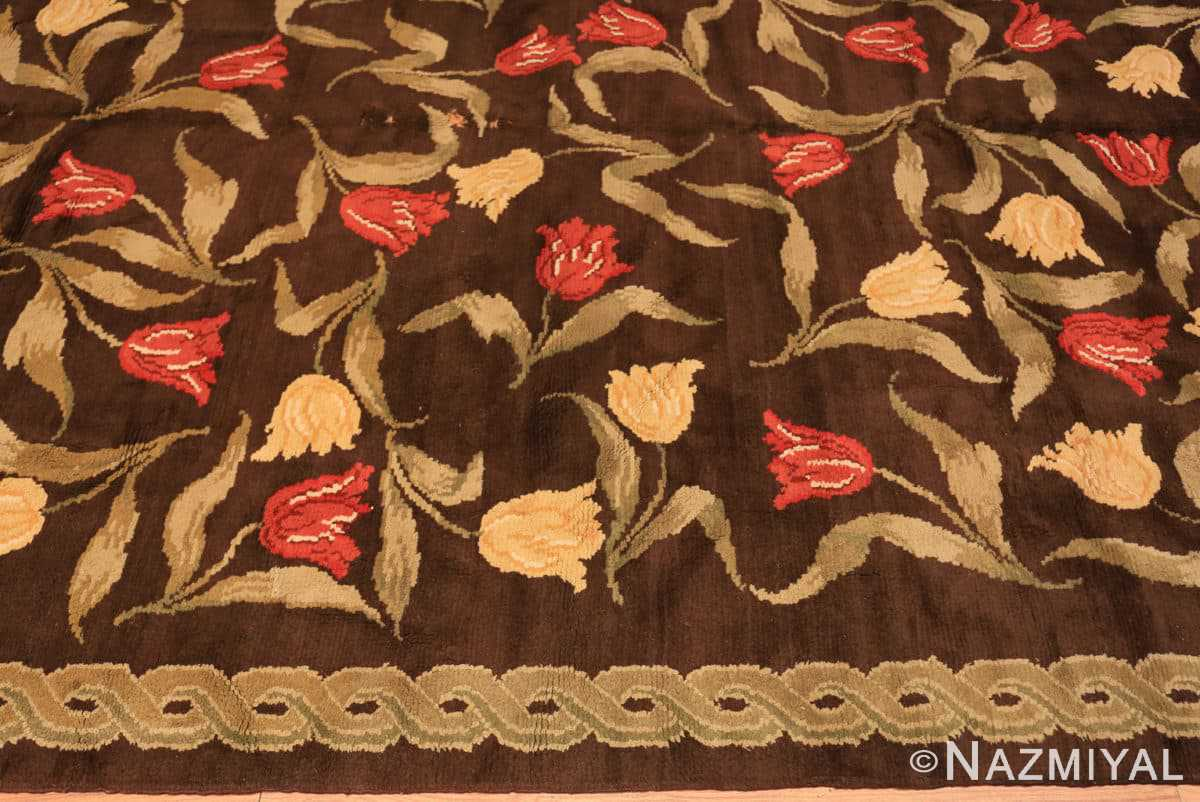 Border Antique Savonnerie French rug 44949 by Nazmiyal Antique Rugs in NYC