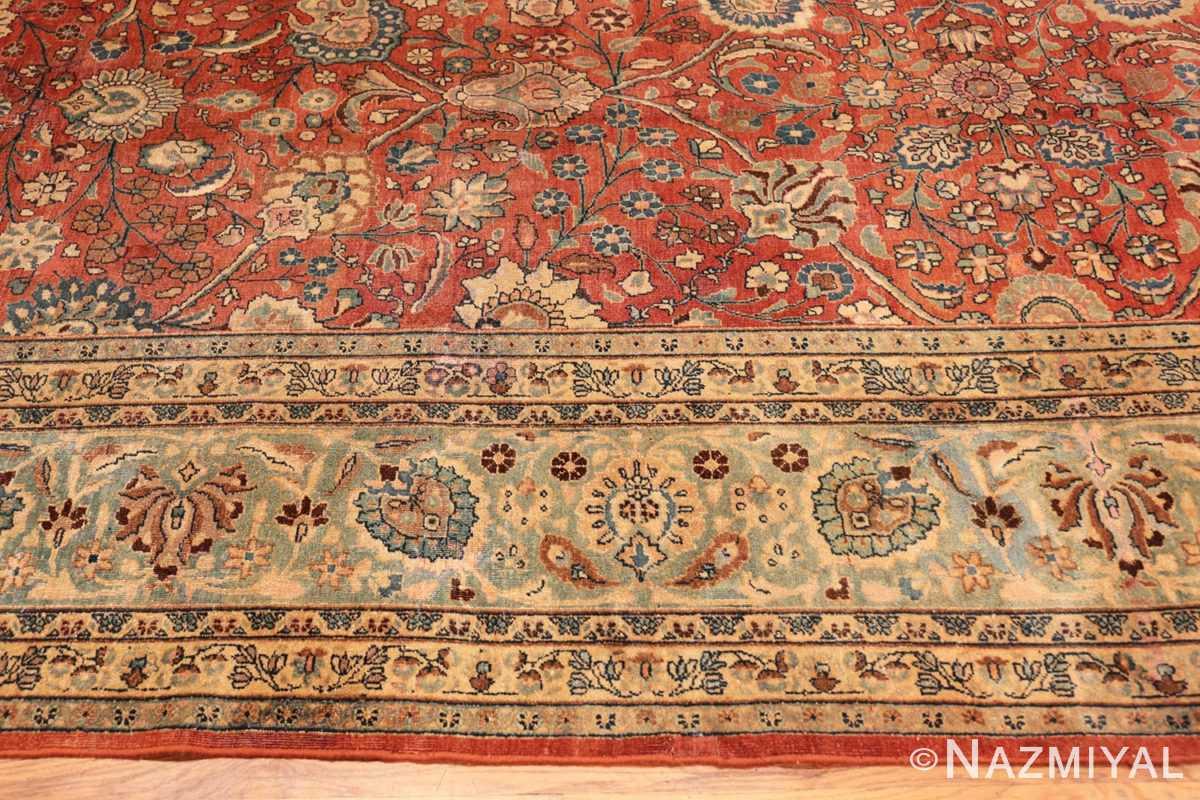 Border Large Antique Tabriz Persian carpet 44813 by Nazmiyal