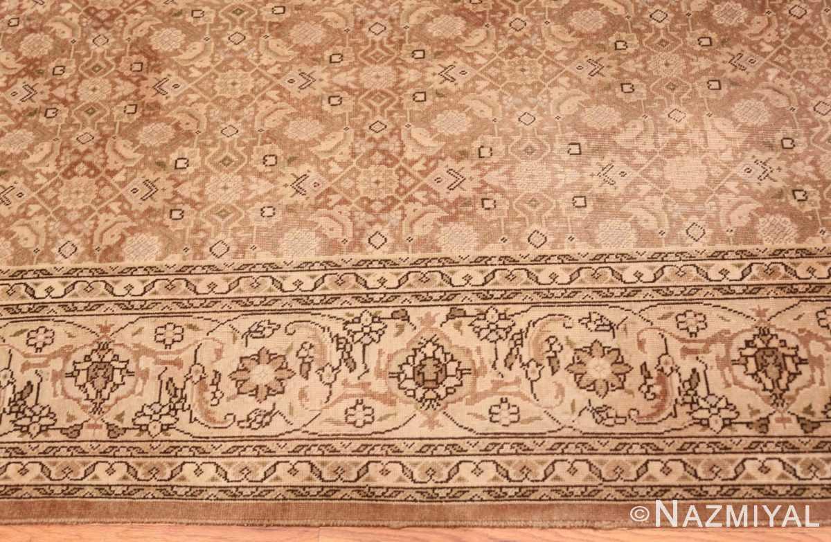 Border Shabby chic Antique Persian Tabriz rug 44600 by Nazmiyal