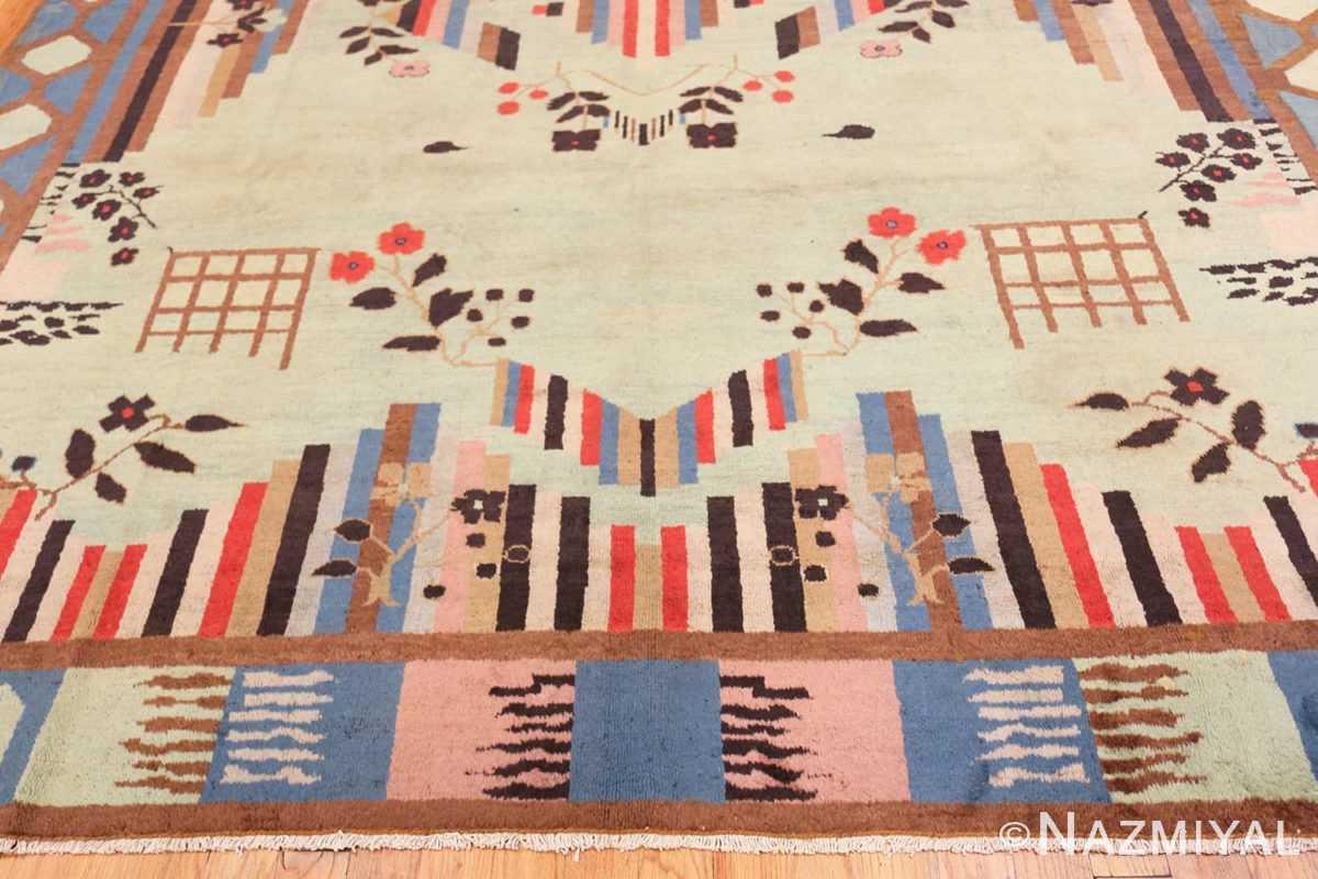 Border Art Deco Indian rug 44915 by Nazmiyal