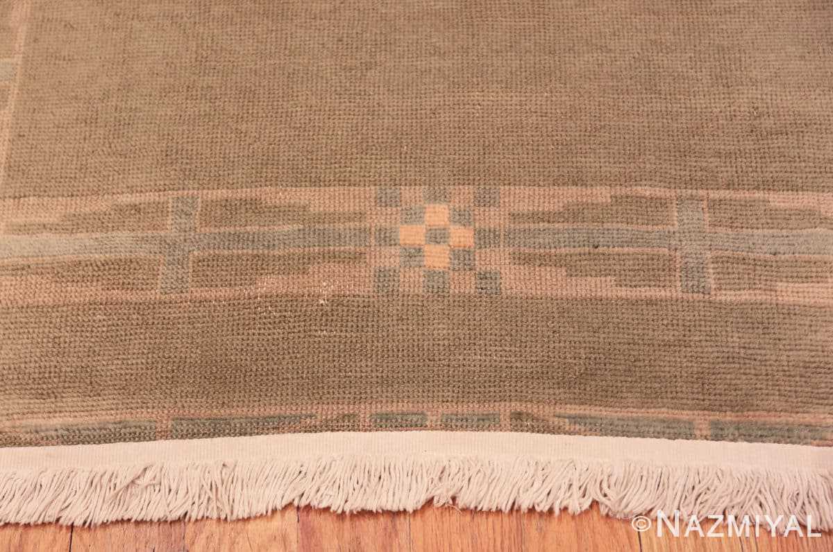 Border Vintage French Art Deco runner rug 43082 by Nazmiyal