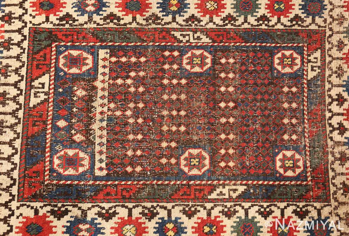Close-up Small Tribal Antique Caucasian Avar rug 44636 by Nazmiyal