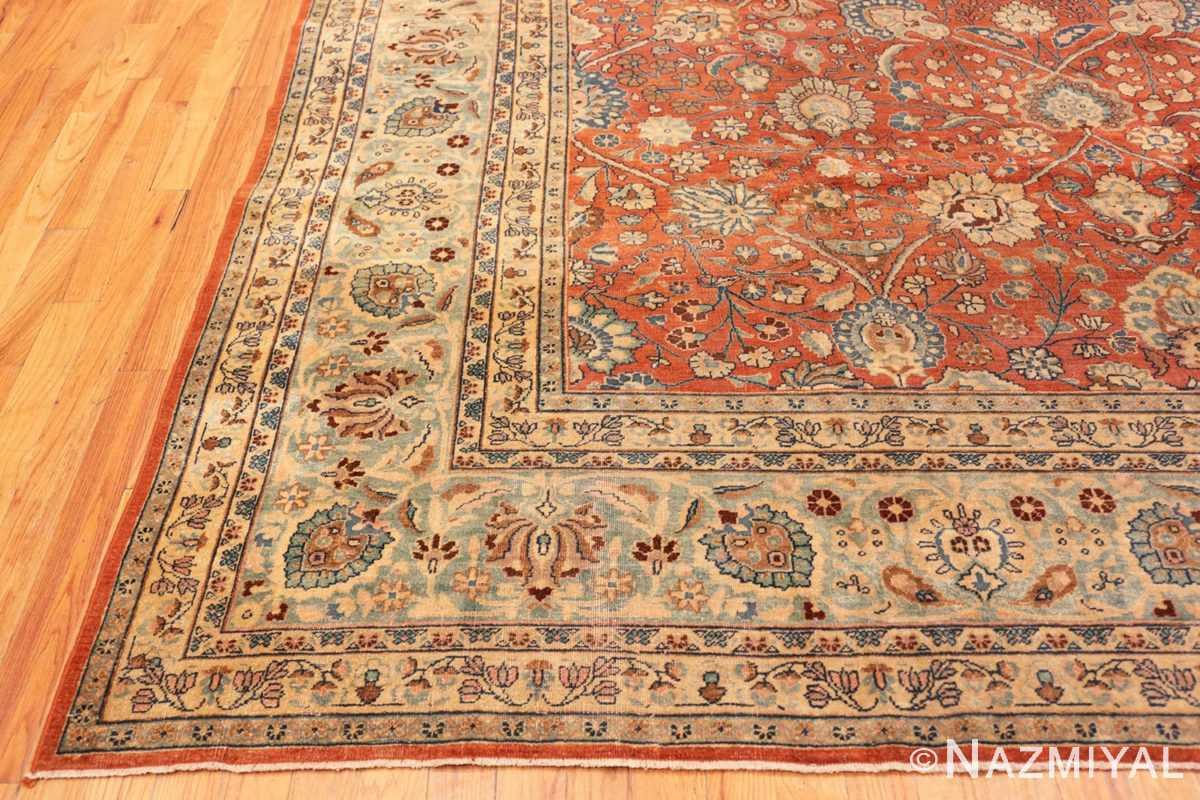 Corner Large Antique Tabriz Persian carpet 44813 by Nazmiyal