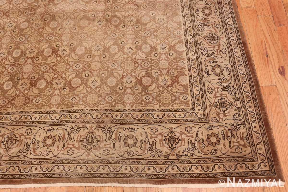 Corner Shabby chic Antique Persian Tabriz rug 44600 by Nazmiyal